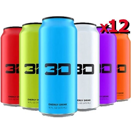 3D ENERGY - 3D ENERGY DRINKS - 473 ml (pack of 12) Pre Workout