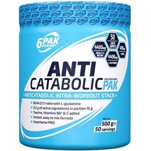 6PAK NUTRITION ANTICATABOLIC PAK - 50 servings * BEST BEFORE 08/2020 * BCAA Supplements