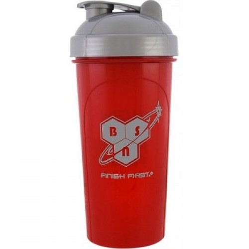 "BSN SHAKER ""PUSH TO FINISH FIRST"" - 700 ml Red Accessories"