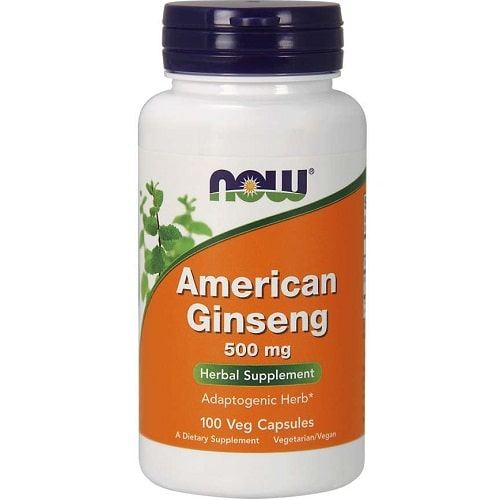NOW FOODS AMERICAN GINSENG 500 mg - 100 veg caps Vitamins & Minerals