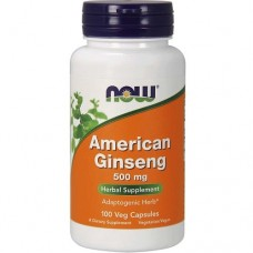 NOW FOODS AMERICAN GINSENG 500 mg - 100 veg caps