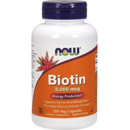 NOW FOODS BIOTIN 5000 mcg - 120 veg caps Vitamins & Minerals