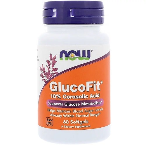 NOW FOODS GLUCOFIT - 60 softgels Banaba Supplements