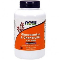 NOW FOODS GLUCOSAMINE & CHONDROITIN WITH MSM - 180 caps