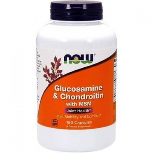 NOW FOODS GLUCOSAMINE & CHONDROITIN WITH MSM - 90 caps Joint support