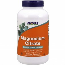 NOW FOODS MAGNESIUM CITRATE - 240 veg caps