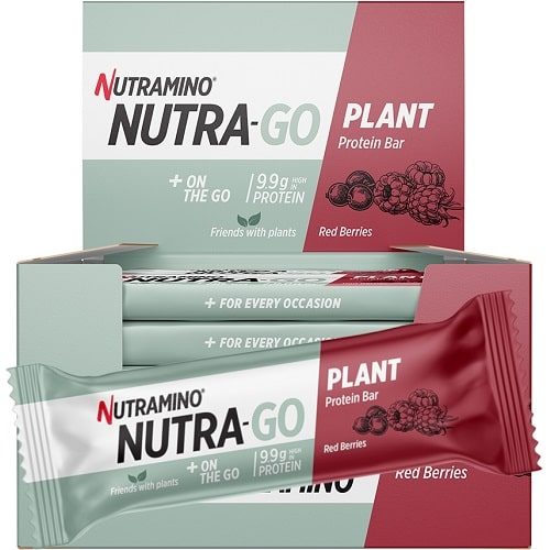 NUTRAMINO NUTRA-GO PLANT PROTEIN BAR - 35 g (pack of 15)  Protein Bars