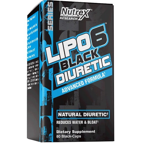 NUTREX RESEARCH LIPO 6 BLACK DIURETIC - 80 caps Weight Loss Support