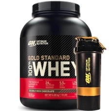 OPTIMUM NUTRITION GOLD STANDARD 100% WHEY - 2270 g + FREE ON SHAKER