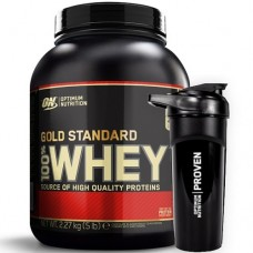 OPTIMUM NUTRITION GOLD STANDARD 100% WHEY - 2270 g + PROVEN SHAKER