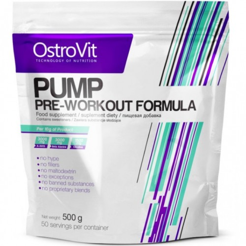 OSTROVIT PUMP PRE-WORKOUT FORMULA - 500 g Nitric Oxide Booster