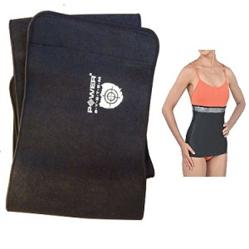 POWER SYSTEM NEOPRENE SLIMMING BELT - 100 cm x 25 cm Weight Loss Support