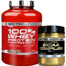 SCITEC NUTRITION 100% WHEY PROTEIN PROFESSIONAL - 2350 g + BCAA COMPLEX - 300 g
