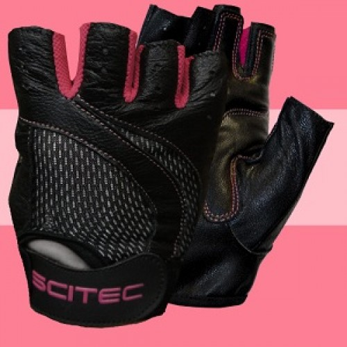 SCITEC NUTRITION PINK STYLE GLOVES - Black Accessories