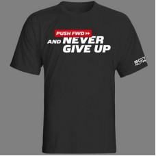 """SCITEC NUTRITION PUSH FWD T-SHIRT """"NEVER GIVE UP"""" - Black"""