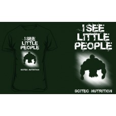 """SCITEC NUTRITION T-SHIRT """"I SEE LITTLE PEOPLE"""" - Dark Green"""