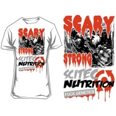 """SCITEC NUTRITION T-SHIRT """"SCARY STRONG"""" - White"""