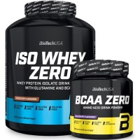 BIOTECH USA ISO WHEY ZERO - 2270 g + BCAA Flash Zero - 360g