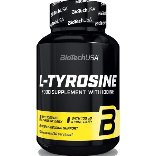 BIOTECH USA L-TYROSINE 500mg - 100 caps Amino Acids