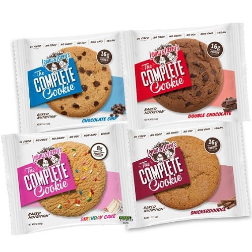 LENNY & LARRY'S THE COMPLETE COOKIE - 113 g (Pack of 12) Bars, Gels & Snacks