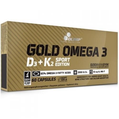 OLIMP GOLD OMEGA 3 D3 + K2 SPORT EDITION - 60 caps Vitamin & Minerals