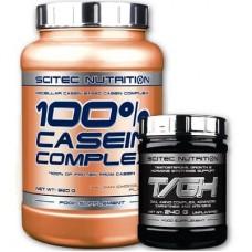 SCITEC NUTRITION 100% CASEIN COMPLEX - 920 g + SCITEC NUTRITION T/GH - 30 servings
