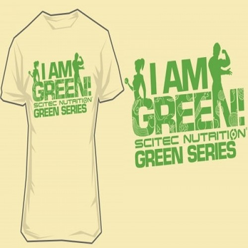 """SCITEC NUTRITION T-SHIRT """"I AM GREEN!"""" - Sand Clothing"""