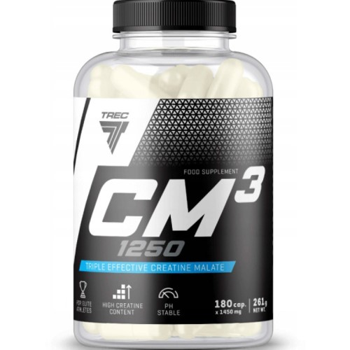 TREC NUTRITION CM3 - 180 caps Creatine Supplements