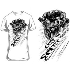 """SCITEC NUTRITION T-SHIRT """"ONLY THE STRONG SURVIVE"""" - White"""