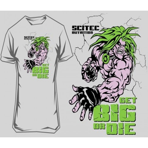 """SCITEC NUTRITION T-SHIRT """"GET BIG OR DIE!"""" 2 - Grey Clothing"""