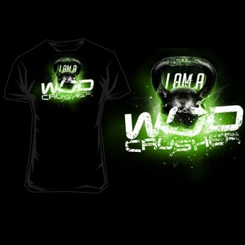 """SCITEC NUTRITION T-SHIRT """"I AM A WOD CRUSHER"""" - Black Clothing"""